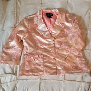 Robert Louis Peach Brocade Jacket